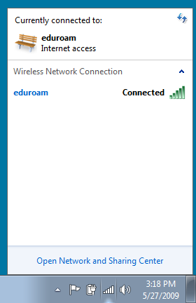 Eduroam connected